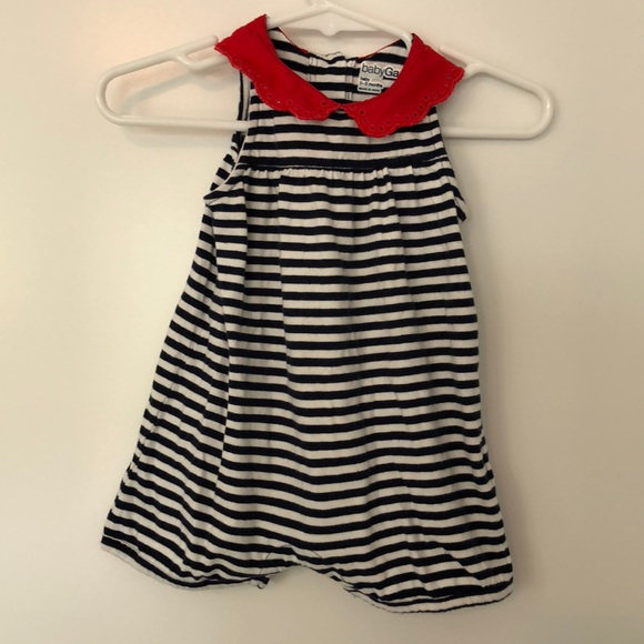 3fa42b14ac58 GAP One Pieces | Baby Navy Striped Shorty One Piece | Poshmark